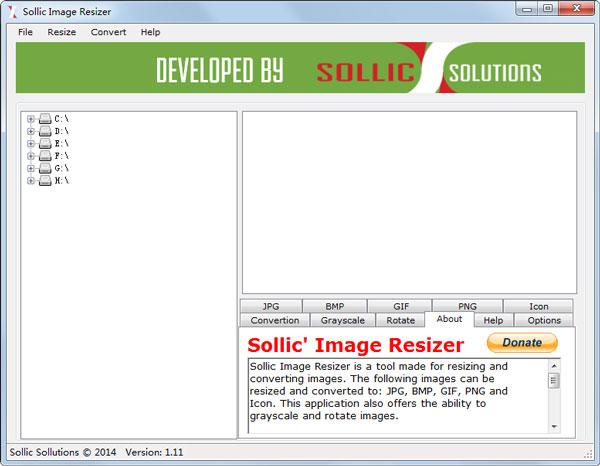 Sollic Image Resizer(图片大小转换器) V1.11 绿色版